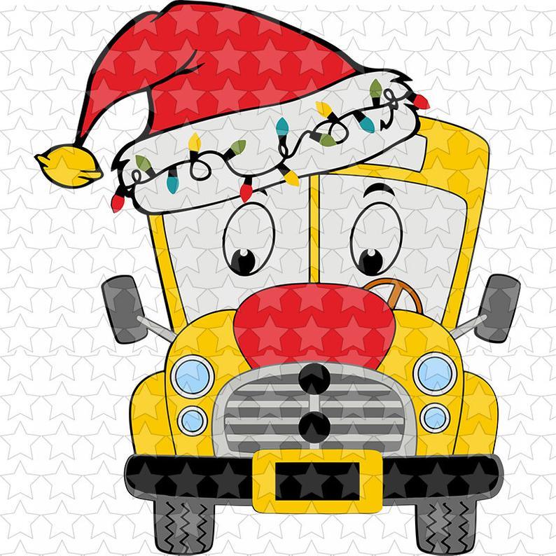 0977 Christmas School Bus.