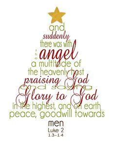 Free Printable Christmas Word Art: Luke 2.
