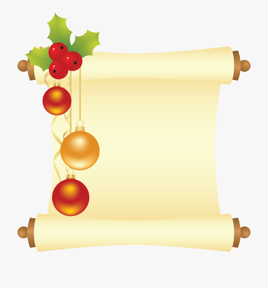 Christmas Scroll Clipart, Cliparts & Cartoons.