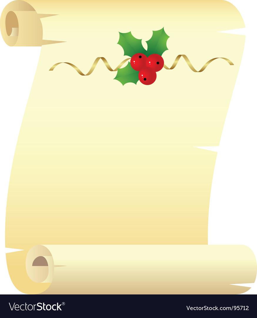 Christmas scroll.