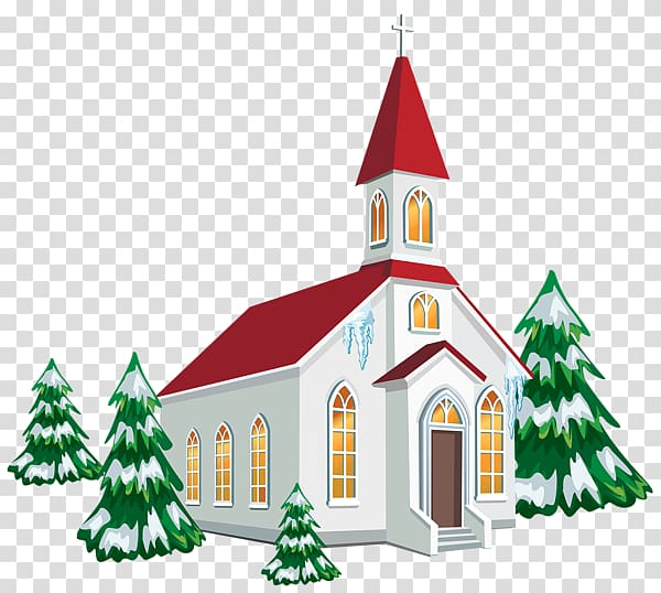 Church service Christmas Chapel , Painted snow house.