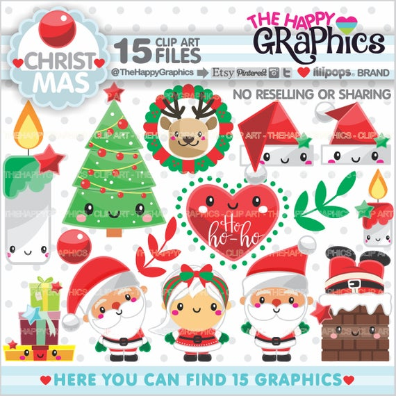 Christmas Clipart, Christmas Graphics, COMMERCIAL USE, Christmas.
