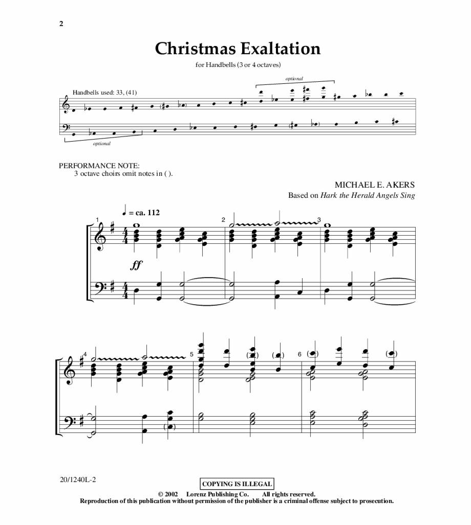 Note Handbell Christmas Music.