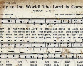 Joy to the World Christmas Sheet Music Christian Hymn Hymnal Digital.