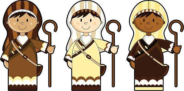 Image result for shepherd illustration.