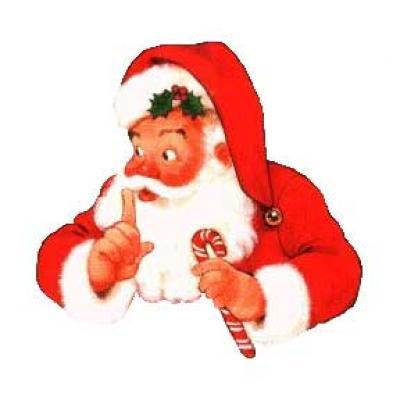 Christmas Shhh Clipart.