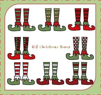 Elf Shoes Clipart / Elf Christmas Shoes Clipart {Christmas Clipart} {Color  Set}.