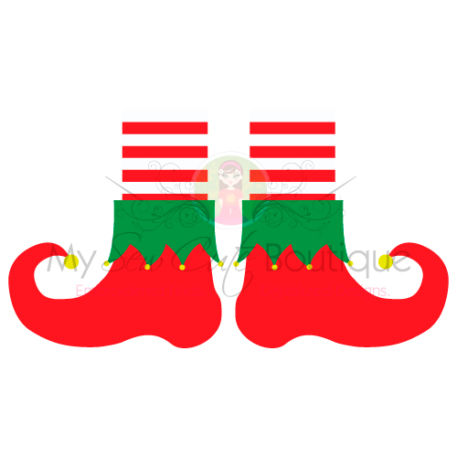 Elf Feet SVG Files for SVG Designs Legs DXF Shoes Christmas.