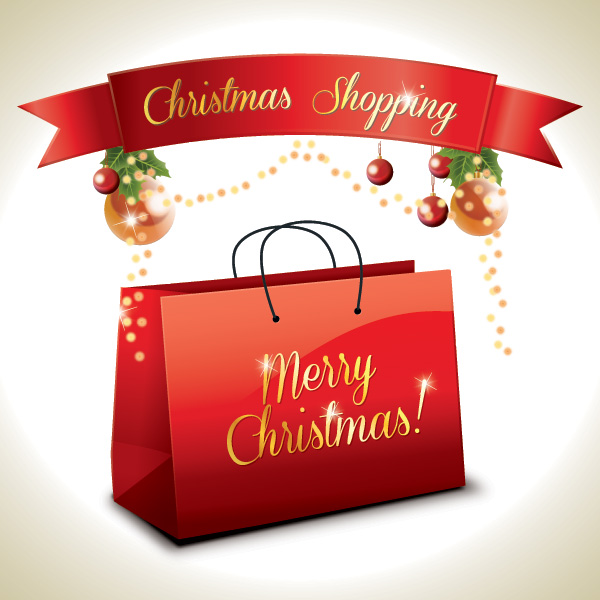 Christmas Shoppers Clipart.