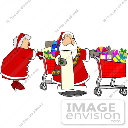 Christmas shopping clipart.