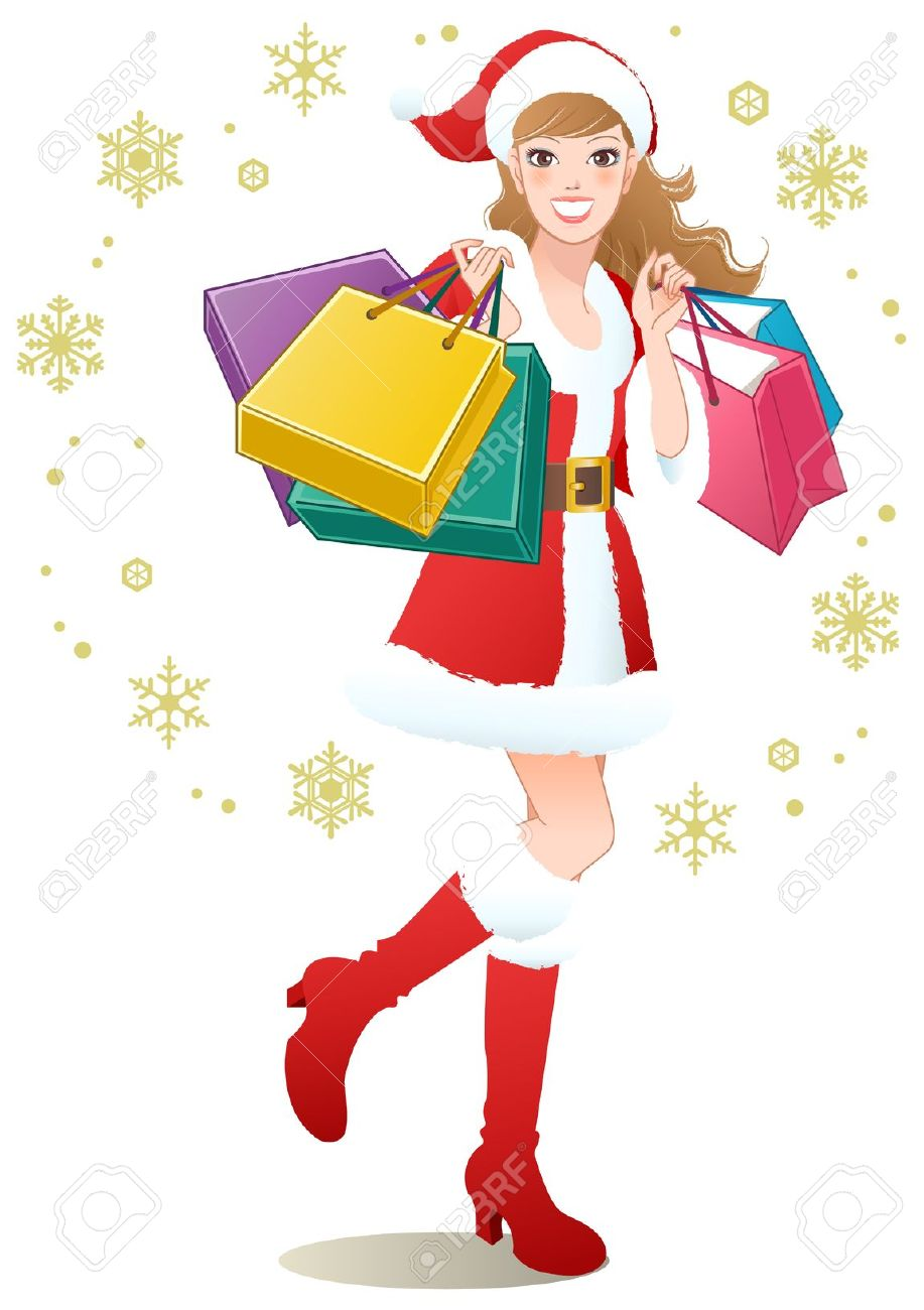 Free christmas shopping clipart.