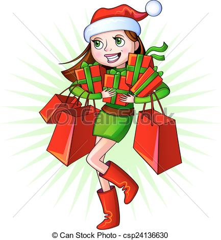 86+ Christmas Shopping Clipart.