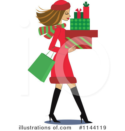 Christmas Shopping Clipart #1144119.