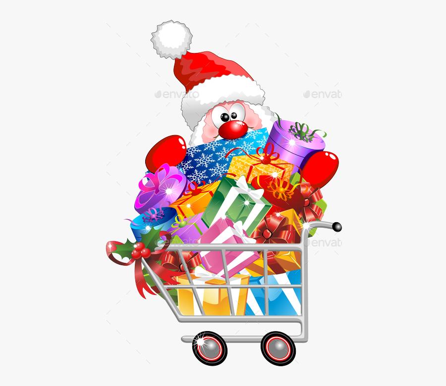 Carts Clipart Santa Claus.