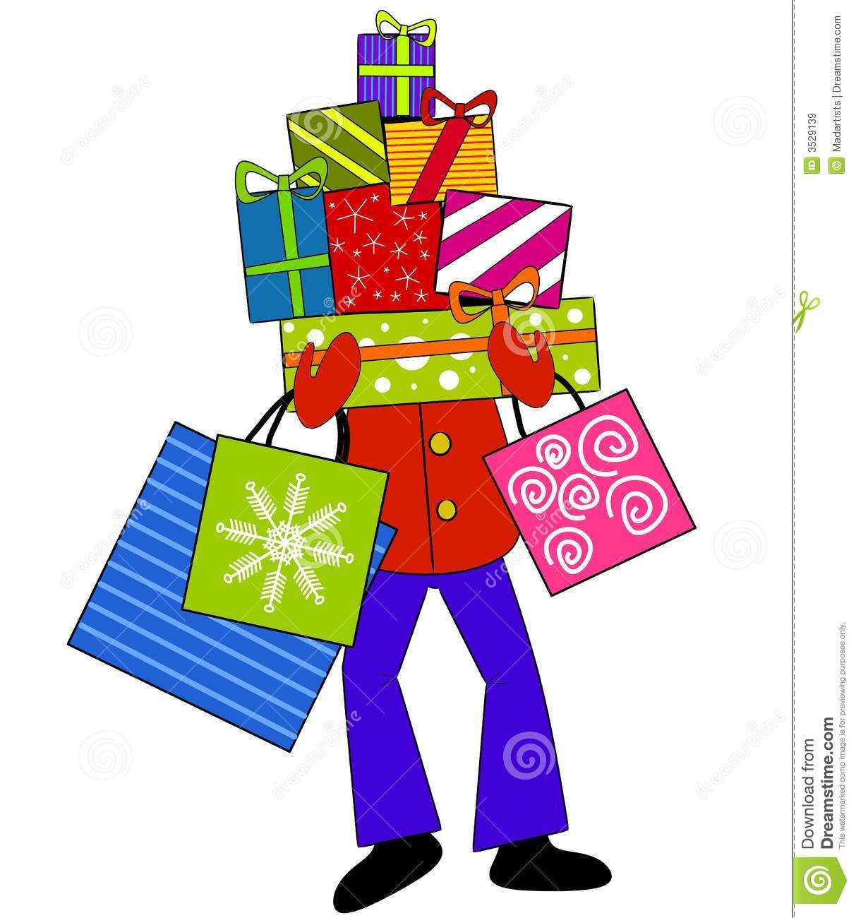 Free Holiday Shopping Clipart.