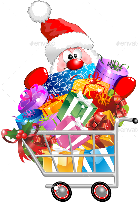 Download Santa On Shopping Cart.