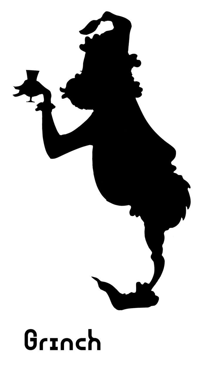 Christmas clip art silhouette.