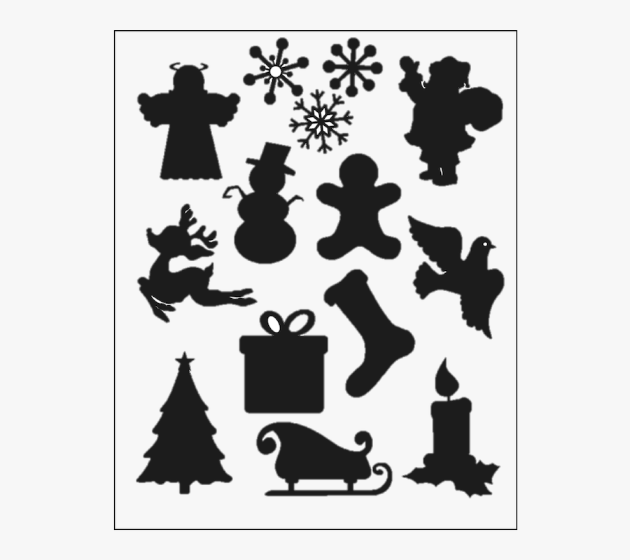 Christmas Silhouette Holiday Clip Art.