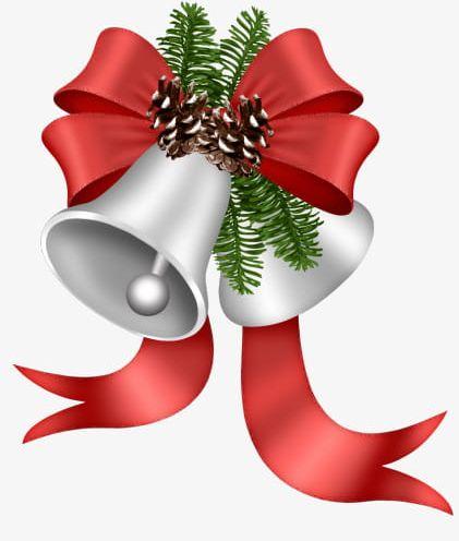 Cartoon Christmas Decoration Silver Bells Pineal PNG, Clipart, Bells.