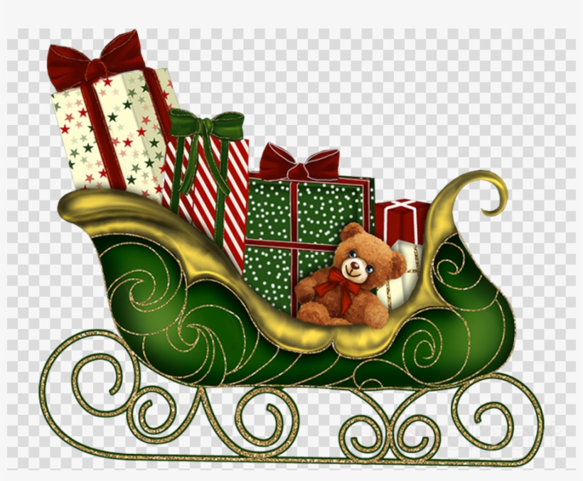 Christmas Day Clipart Santa Claus Reindeer Clip Art.