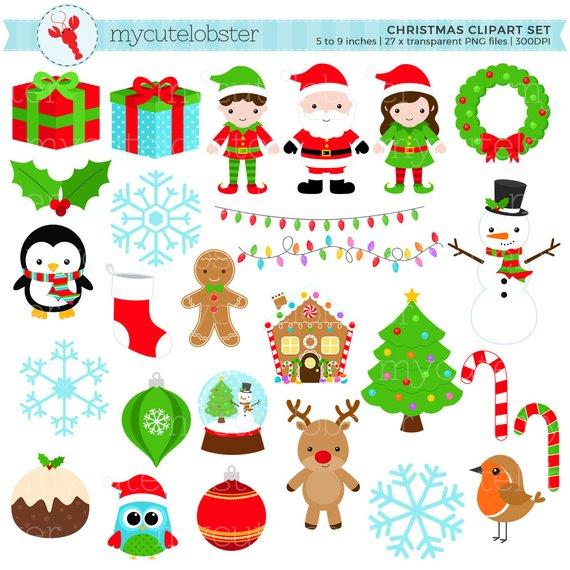 Christmas Clipart Set.