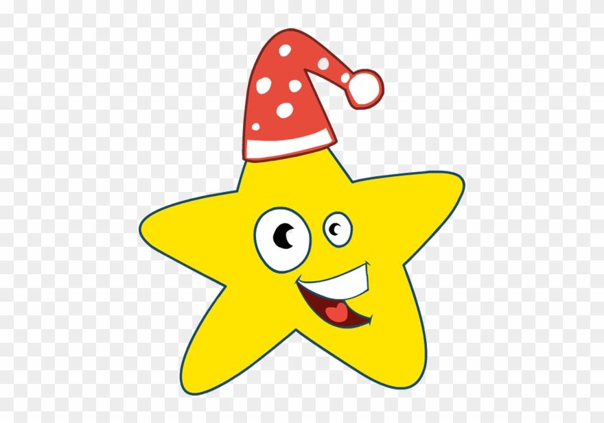 Clip Art Christmas Star Cap Smile Happy.