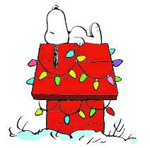 Christmas snoopy Clip Art.