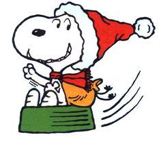 Clip Art Snoopy Christmas.