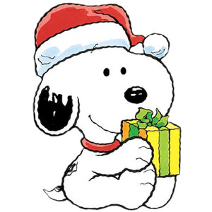 Christmas Snoopy Clipart.