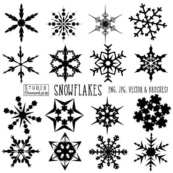 Snowflake Brushes.