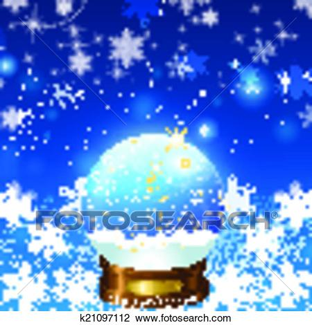 Christmas Snow Globe Loop Clipart.