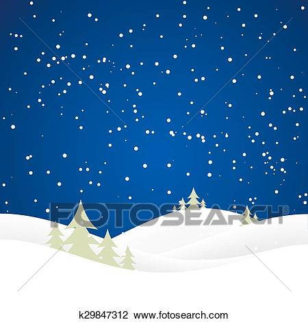 Christmas snow hills Clipart.