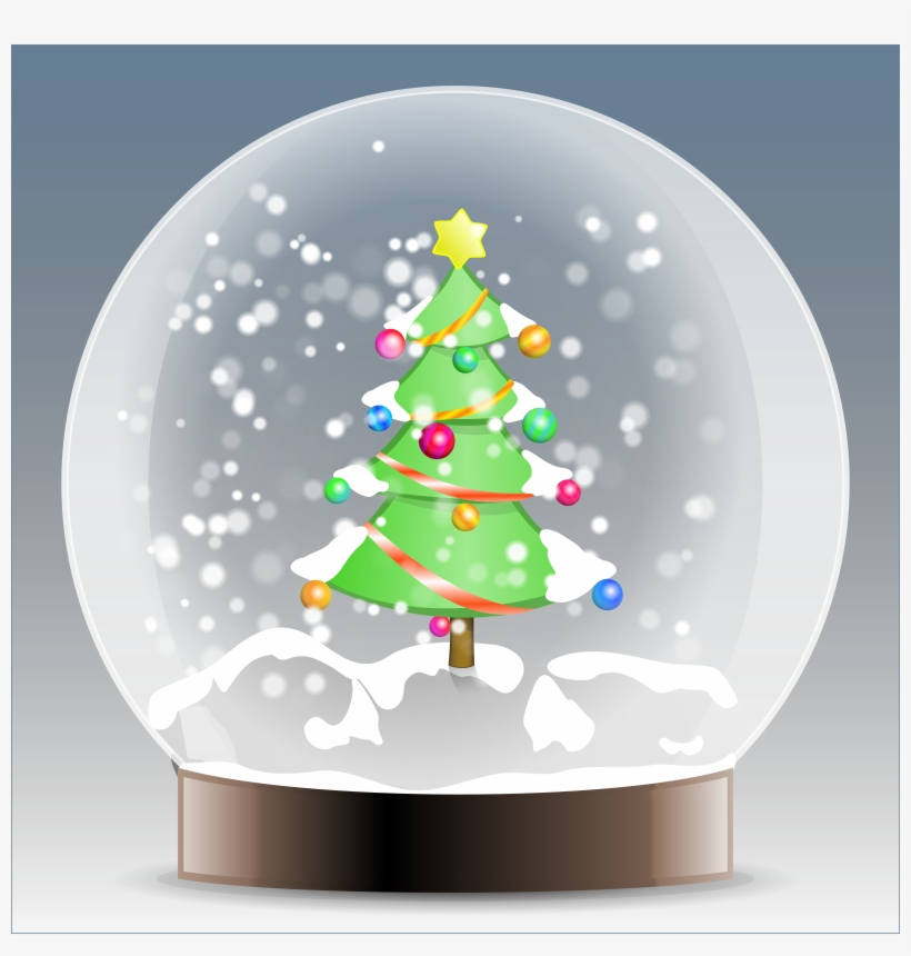 Winter Clipart Snow Globe.