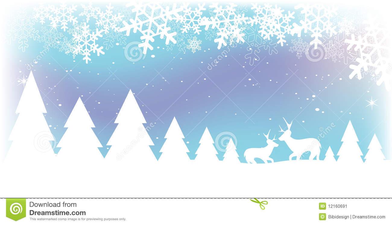 Christmas Snow Scene stock vector. Illustration of december.