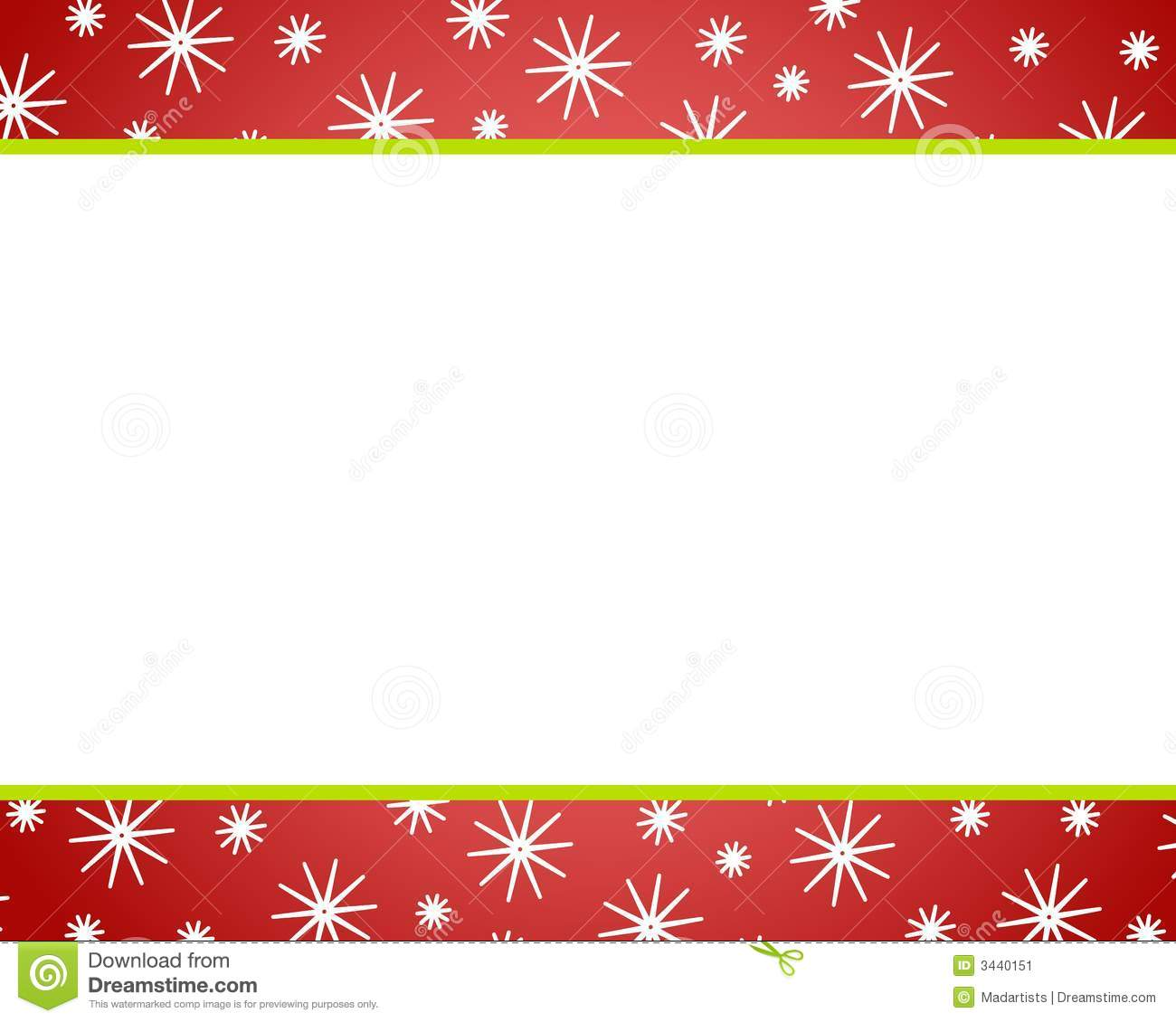 Red Christmas Snow Borders stock illustration. Illustration of.