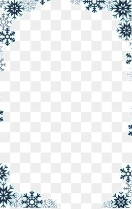 Snowflake Border, Snowflake Clipart, Winter Elements PNG Transparent.