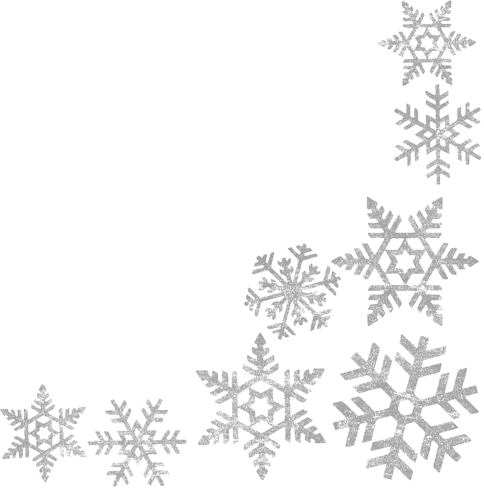 blue snowflake border clipart #2.
