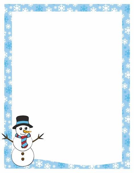 Christmas Snowflake Clipart Border.