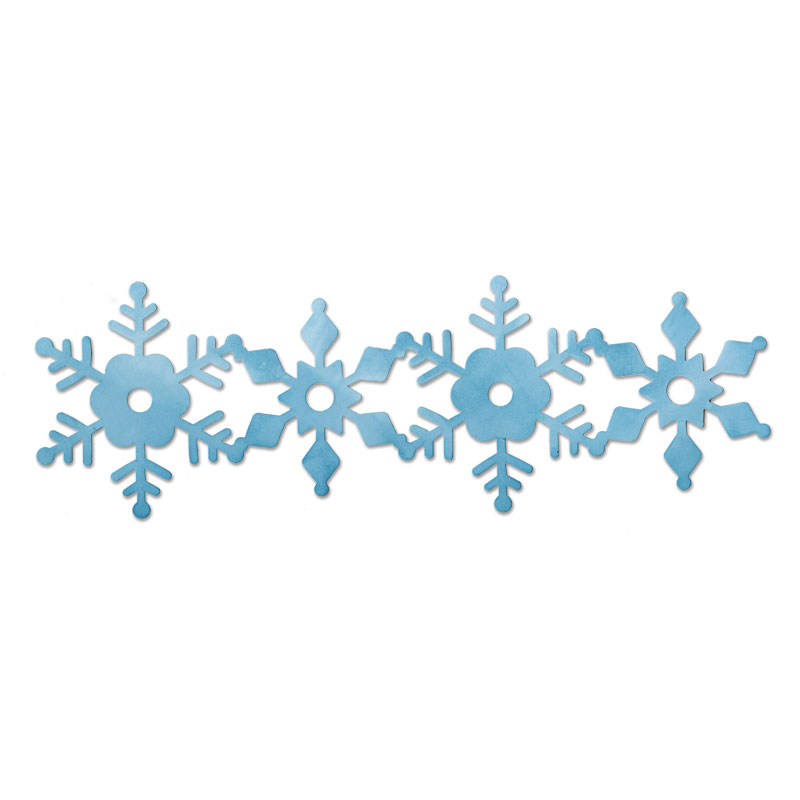 Snowflake border clipart free clipground