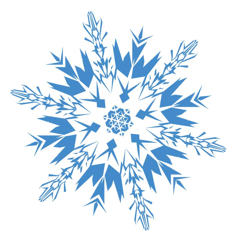 Blue Christmas Snowflake Clipart Free.