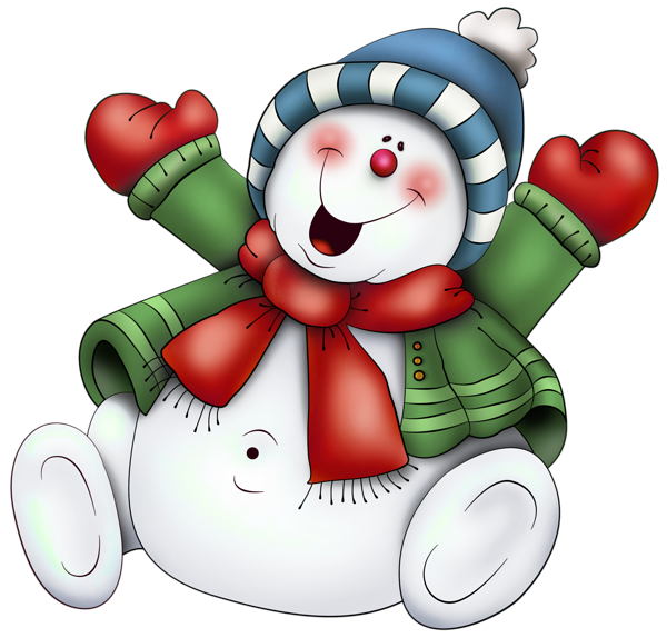 Cute Christmas Snowmen Clipart.