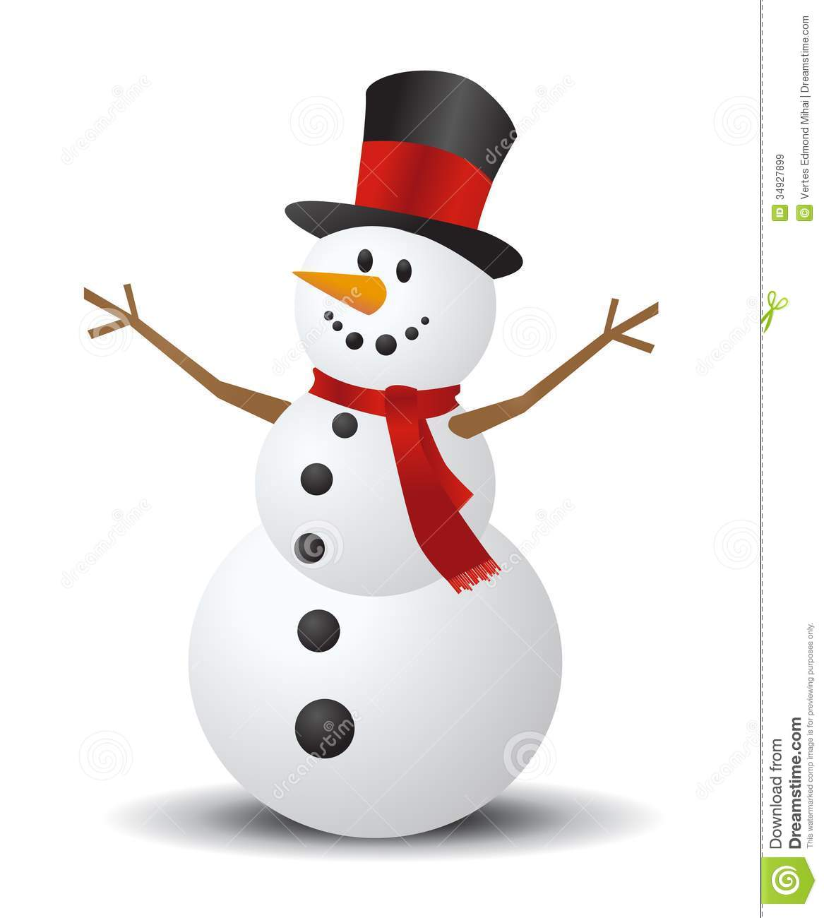 Merry christmas snowman clipart.