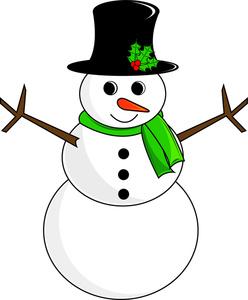 Free christmas snowman clipart.