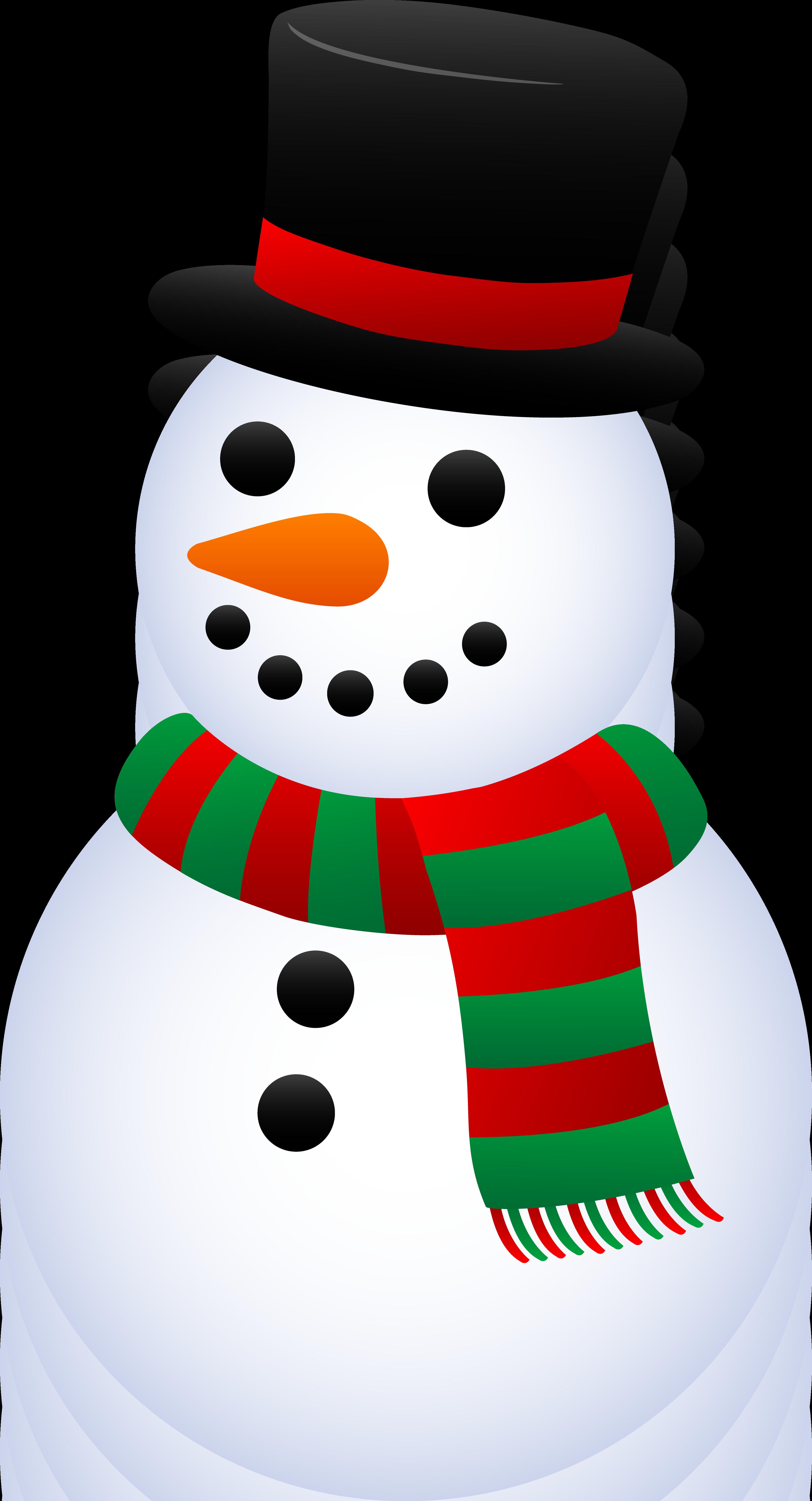 Christmas snowman clip art.