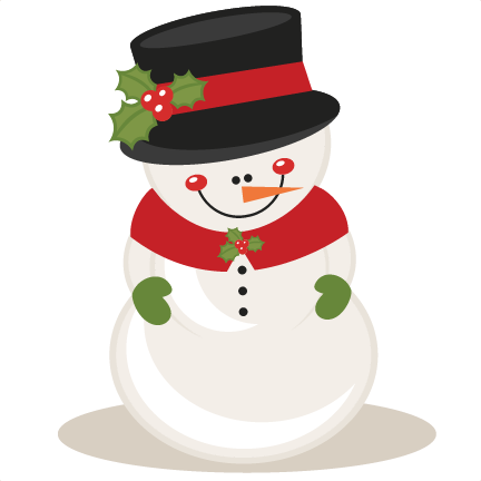 Cute christmas snowman clipart free.