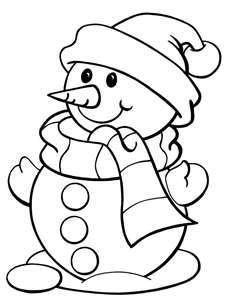 Clipart Of Snowman Black And White.