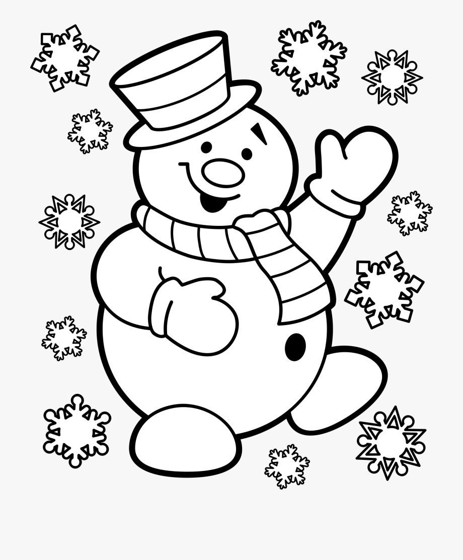 Snowman Black And White Snowman Clipart Black And White.