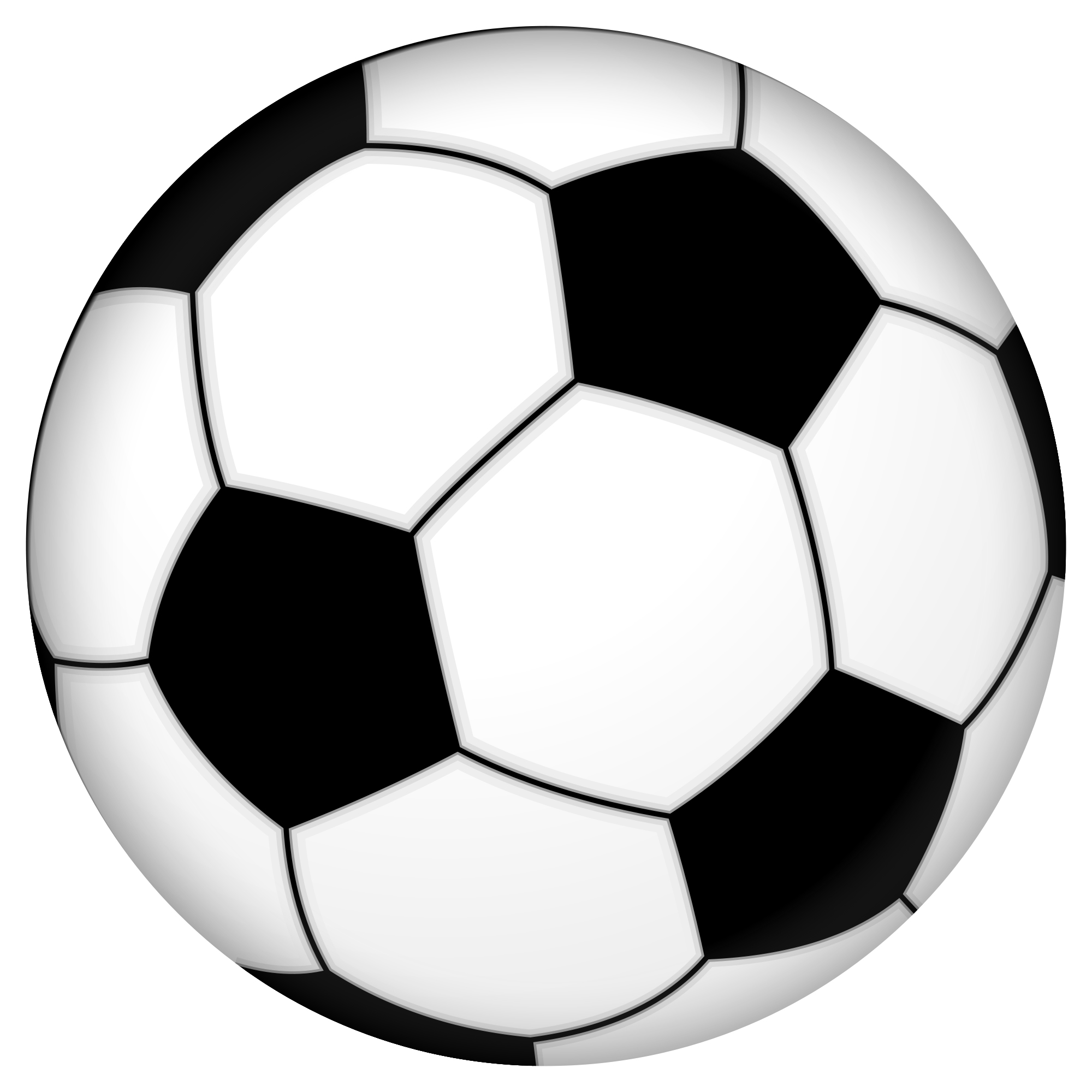Christmas soccer ball clip art.