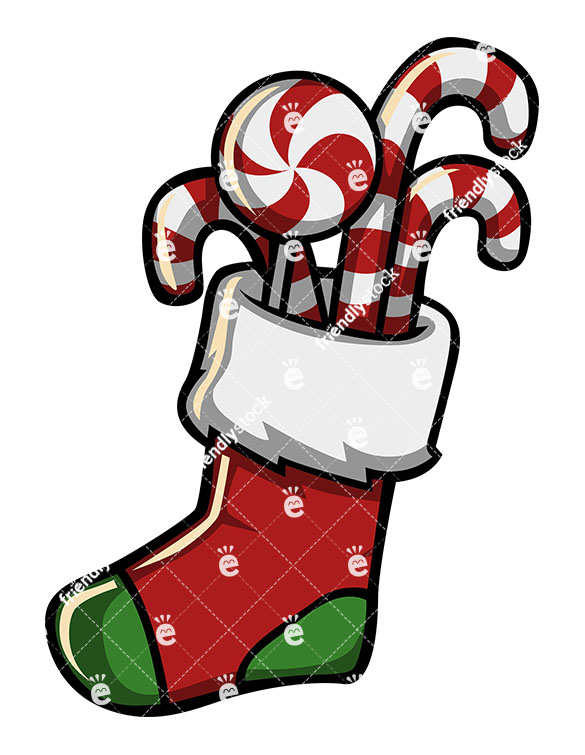 A Christmas Stocking Full Of Candy.