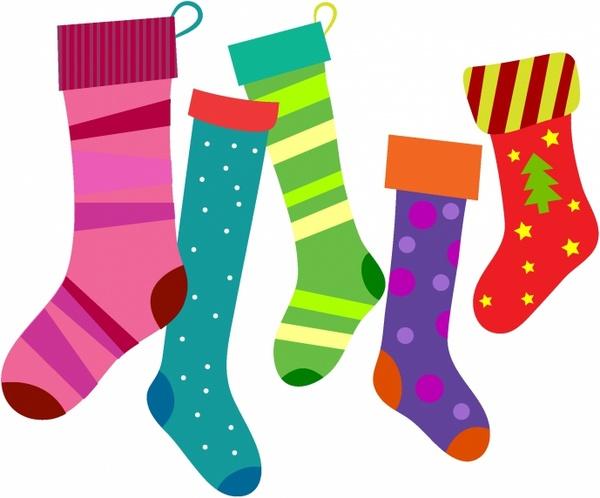 Christmas Stockings Free vector in Adobe Illustrator ai ( .AI.